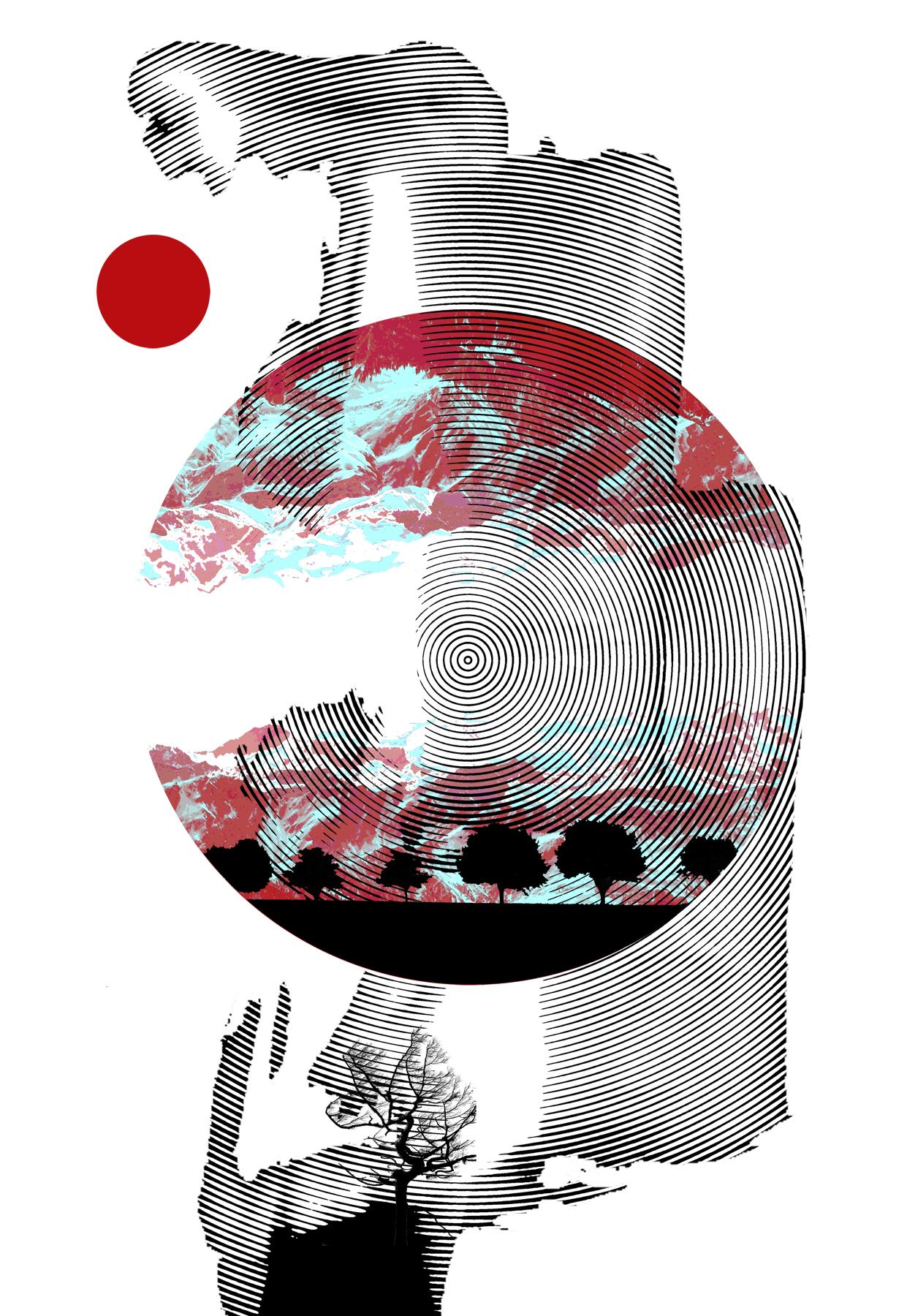 japan tsunami poster