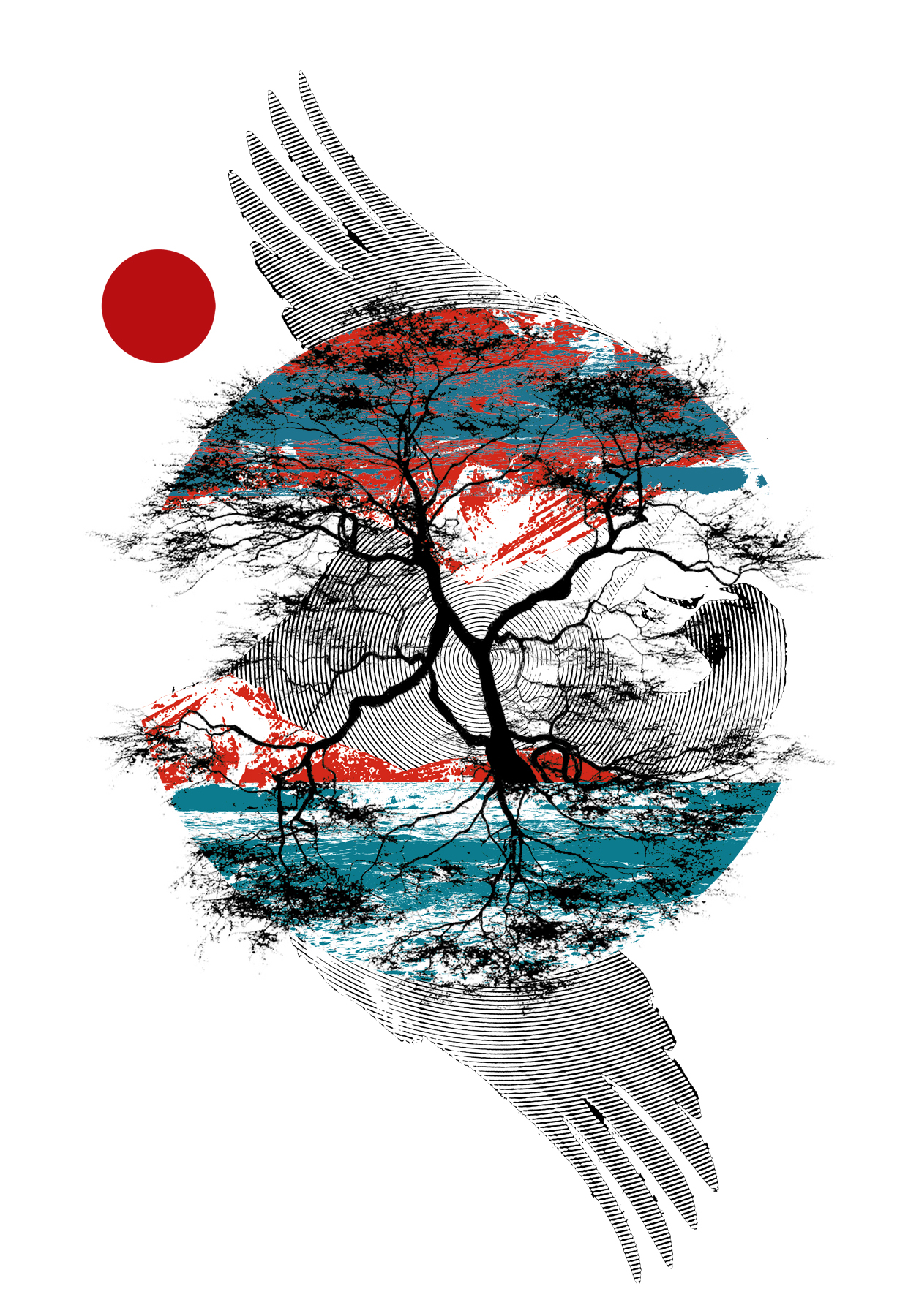 Poster design japan - 2011 Screen Print 18 24 Inspired By The Tragic Tsunami That Hit Japan On March 11th 2011 I Wanted To Express My Love And Support For Japan